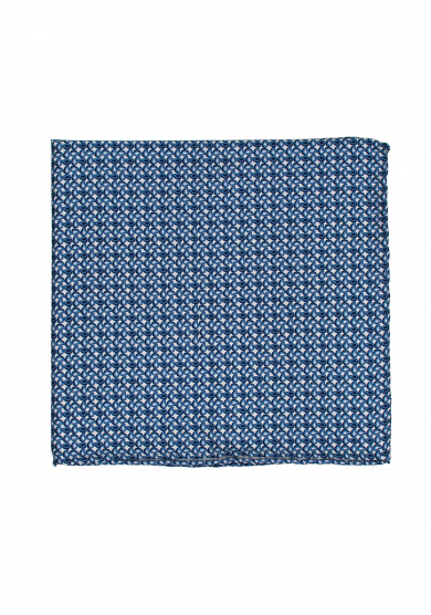BLUE MINI PAISLEY POCKET SQUARE