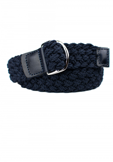 NAVY COTTON BRAIDED BELT