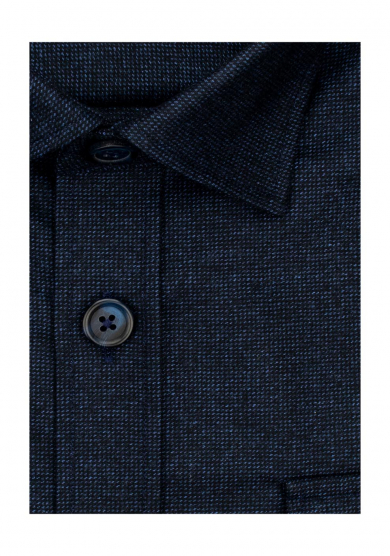 NAVY OVERSHIRT WOOL CASHMERE TWILL