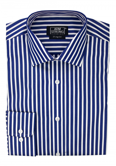 NAVY STRIPE POPLIN