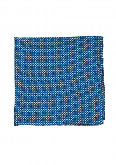 BLUE CIRCLE PATTERN POCKET SQUARE