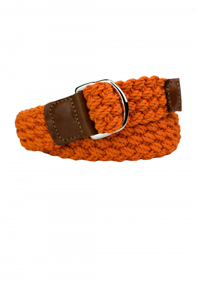 ORANGE COTTON BRAIDED BELT