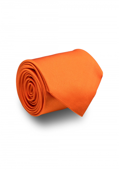 ORANGE SATIN SILK TIE