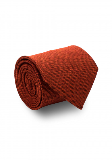 ORANGE SOLID SILK TIE