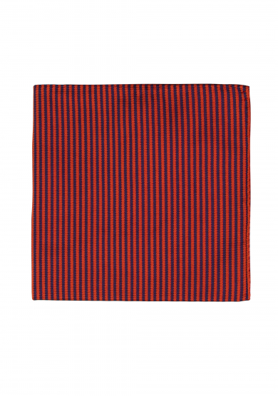 ORANGE PURPLE STRIPE POCKET SQUARE