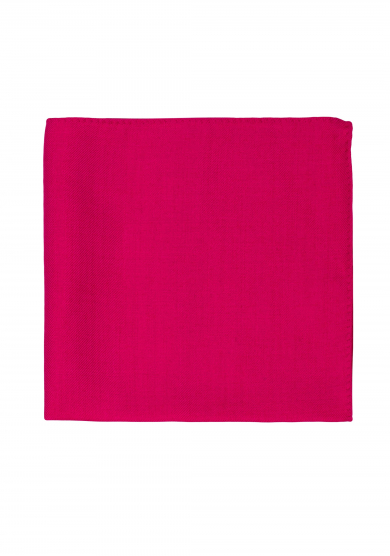 PINK WOOL SILK POCKET SQUARE