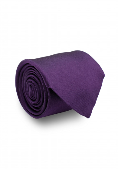 PURPLE SATIN SILK TIE