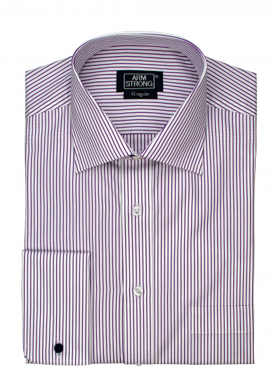 PURPLE STRIPE POPLIN
