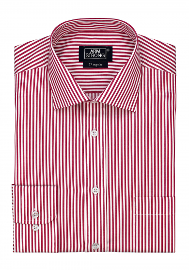 RED WHITE STRIPE TWILL