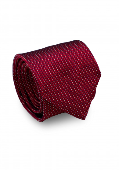 RED WHITE DOT SILK TIE