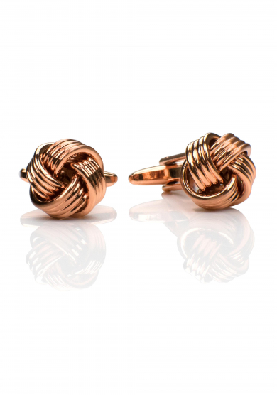 ROSE GOLD KNOT CUFF LINK