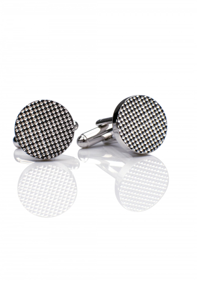 CHROME PATTERN CUFF LINK
