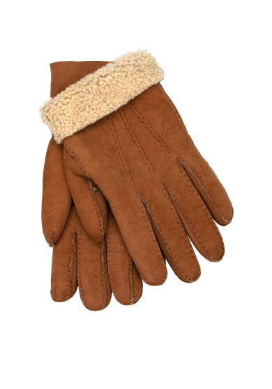 TAN SHEARLING GLOVES