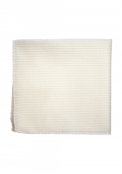 WHITE GRENADINE POCKET SQUARE