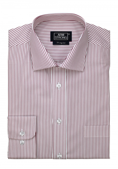 RED STRIPE POPLIN