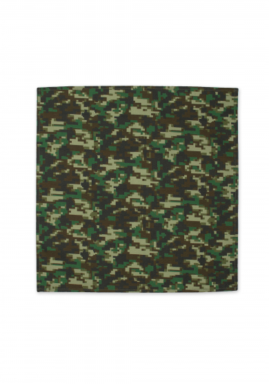 WOODLAND CAMOUFLAGE POCKET SQUARE