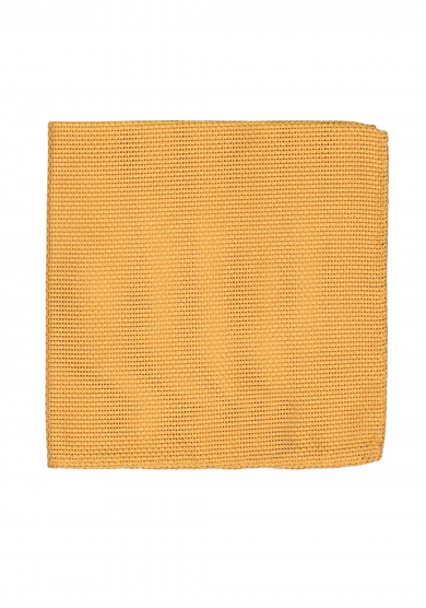 YELLOW GRENADINE SILK POCKET SQUARE
