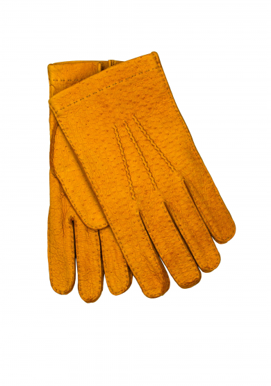 YELLOW PECCARY UNLINED GLOVES